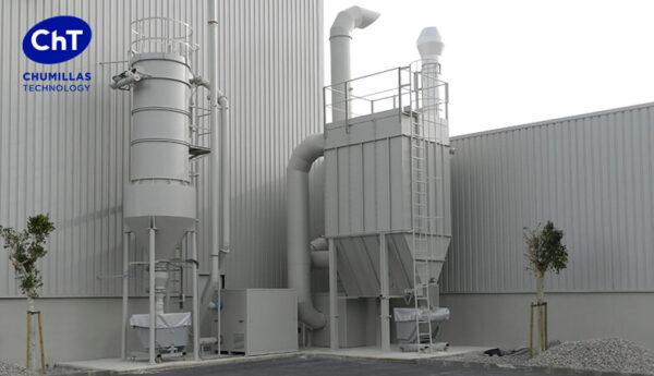 Filtros de mangas: Solución para eliminar el polvo de sílice libre