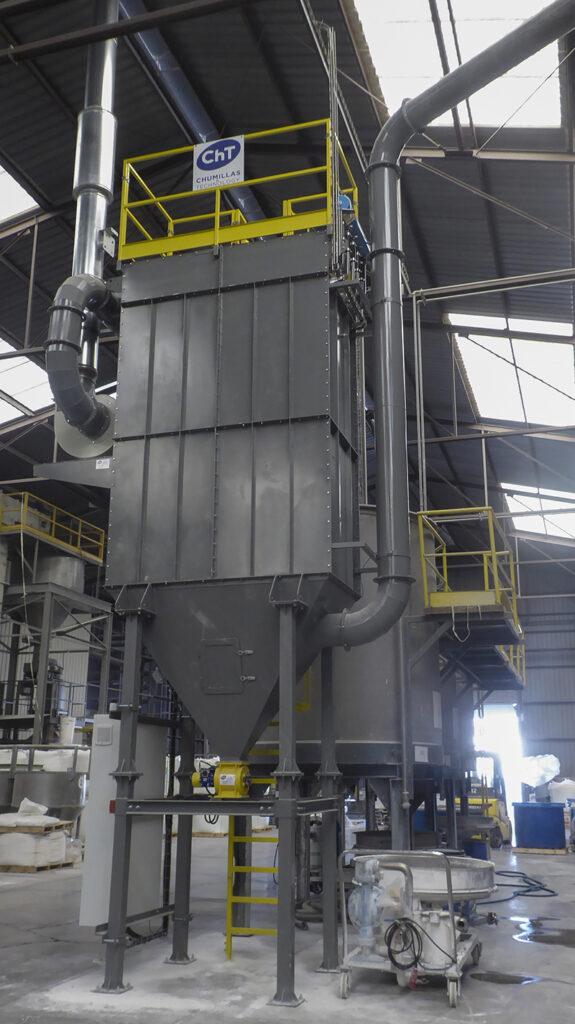 Eliminar el Polvo de silice libre con el filtro de mangas