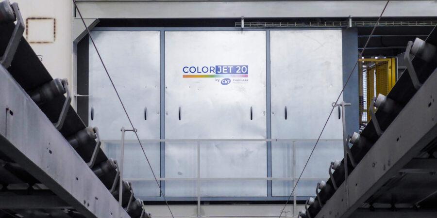 Instalación del COLORJET 20 sistema de coloración en seco en PERONDA