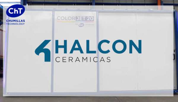 HALCÓN CERÁMICAS bets on dry coloring technology of CHUMILLAS TECHNOLOOGY